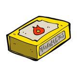 bloco dos desenhos animados dos fósforos Fotografia de Stock Royalty Free