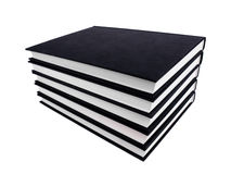 Bloco dos livros no fundo branco Imagens de Stock