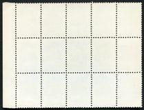 Bloco em branco dos selos de porte postal de quinze quadro Fotos de Stock Royalty Free