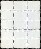 Bloco em branco dos selos de porte postal de quinze quadro Imagens de Stock