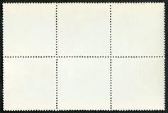 Bloco em branco dos selos de porte postal de seis quadro Foto de Stock