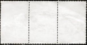 Bloco em branco dos selos de porte postal de três quadro Fotos de Stock