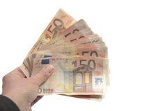 Bloco grande de cinqüênta euro Fotografia de Stock Royalty Free