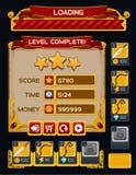 Bloco medieval do GUI do jogo Imagem de Stock Royalty Free