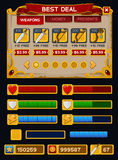 Bloco medieval do GUI do jogo Imagens de Stock