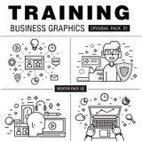 Bloco moderno do treinamento do negócio Imagem de Stock Royalty Free
