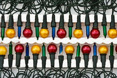 Bloco novo de luzes de Natal Imagens de Stock Royalty Free