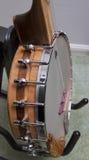 Bloco Rim Construction da noz da faia para trás em um banjo aberto Imagem de Stock Royalty Free