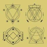 bloco sagrado da geometria ilustração royalty free