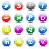 Bloco social dos ícones dos meios Fotografia de Stock Royalty Free