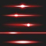 Bloco vermelho dos raios laser Imagens de Stock Royalty Free