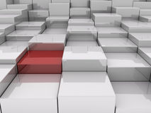 blocos 3D Imagem de Stock Royalty Free