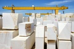 Blocos 5 do mármore imagens de stock