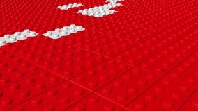 Blocos abstratos do brinquedo em vermelho e em branco ilustração do vetor