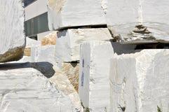 Blocos brancos do mármore Fotografia de Stock