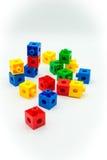 Blocos coloridos do plástico Fotografia de Stock Royalty Free