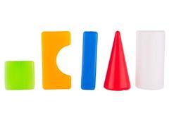 Blocos coloridos do plástico do contruction do brinquedo Imagem de Stock Royalty Free