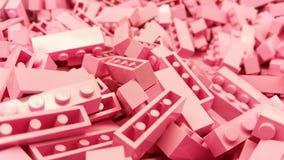 Blocos cor-de-rosa do plástico fotos de stock royalty free