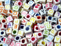 Blocos da letra alfabética Imagens de Stock