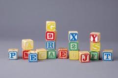 Blocos da letra das crianças Foto de Stock Royalty Free
