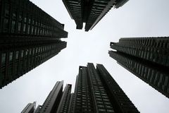 Blocos de apartamentos Imagem de Stock Royalty Free