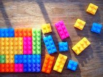 Blocos de apartamentos coloridos Imagens de Stock