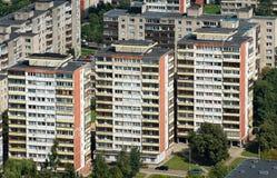 Blocos de apartamentos da vista aérea Foto de Stock