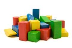Blocos de apartamentos de madeira Imagem de Stock Royalty Free