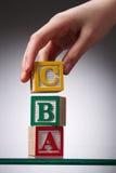 Blocos de apartamentos do alfabeto Imagem de Stock Royalty Free