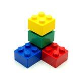 Blocos de apartamentos do plástico de Lego Fotografia de Stock Royalty Free