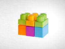 Blocos de apartamentos ou blocos de apartamentos plásticos no fundo Imagens de Stock Royalty Free