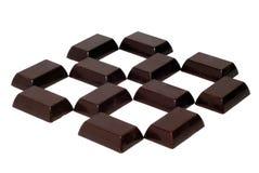 Blocos de chocolate fotos de stock