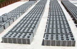 Blocos de cimento - cinza Imagem de Stock Royalty Free