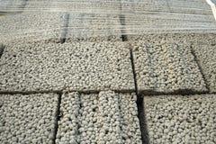 Blocos de cimento de Ceramsite Foto de Stock Royalty Free
