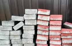 Blocos de cimento um o grupo do dobrado imagens de stock royalty free