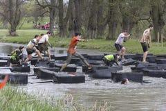 Blocos de equilíbrio do rio Foto de Stock