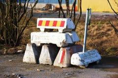 Blocos de estrada Fotografia de Stock