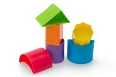 Blocos de formas e de cores diferentes Fotos de Stock Royalty Free