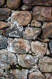 Blocos de granito em uma parede Imagem de Stock