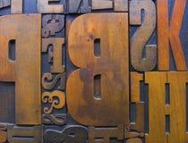 Blocos de impressão de madeira 2 fotos de stock