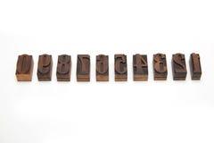 Blocos de impressão de madeira foto de stock royalty free