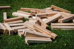 Blocos de madeira Imagens de Stock