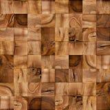 Blocos de madeira abstratos - fundo sem emenda - forro quadriculado Imagens de Stock Royalty Free