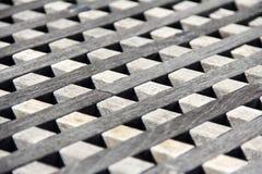 Blocos de madeira alinhados Imagem de Stock Royalty Free