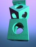 Blocos de madeira coloridos Imagem de Stock