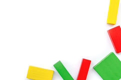 Blocos de madeira coloridos Fotografia de Stock Royalty Free