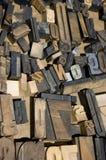 Blocos de madeira da letra fotos de stock royalty free