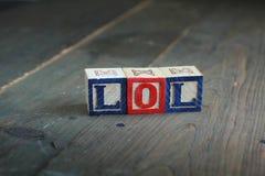 Blocos de madeira de Lol Fotografia de Stock Royalty Free