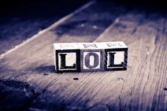 Blocos de madeira de Lol Imagem de Stock Royalty Free