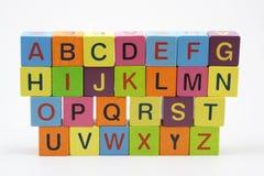 Blocos de madeira do ABC imagens de stock royalty free